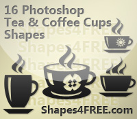 16 Photoshop Cup Shapes – Coffee & Tea Cups