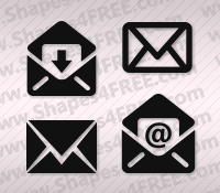 Email (Envelope) Photoshop Custom Shapes (CSH)