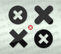 Cross Icon Photoshop & Vector Shapes (CSH)
