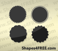 35+ Badge Photoshop & Vector Shapes