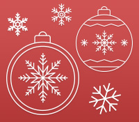 Christmas Baubles Photoshop Shapes