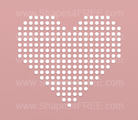 Dotted Heart Photoshop Shape