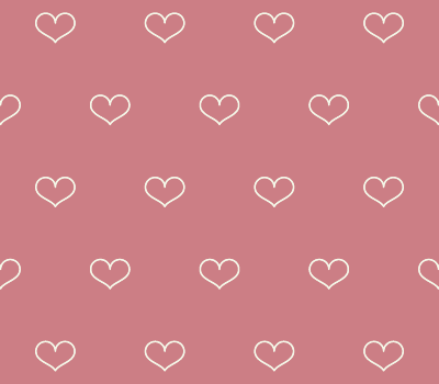 Outline Hearts Vector Pattern On Coral Background (SVG)