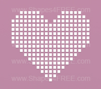 Pixelated Heart Photoshop Shape
