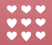 Simple Hearts Photoshop Custom Shapes