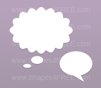 Speech Bubbles Photoshop Shapes