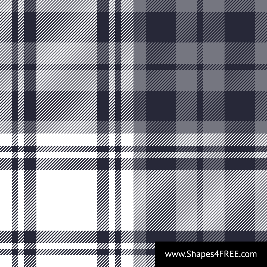 Grey & White Check Plaid Pattern Vector (SVG)
