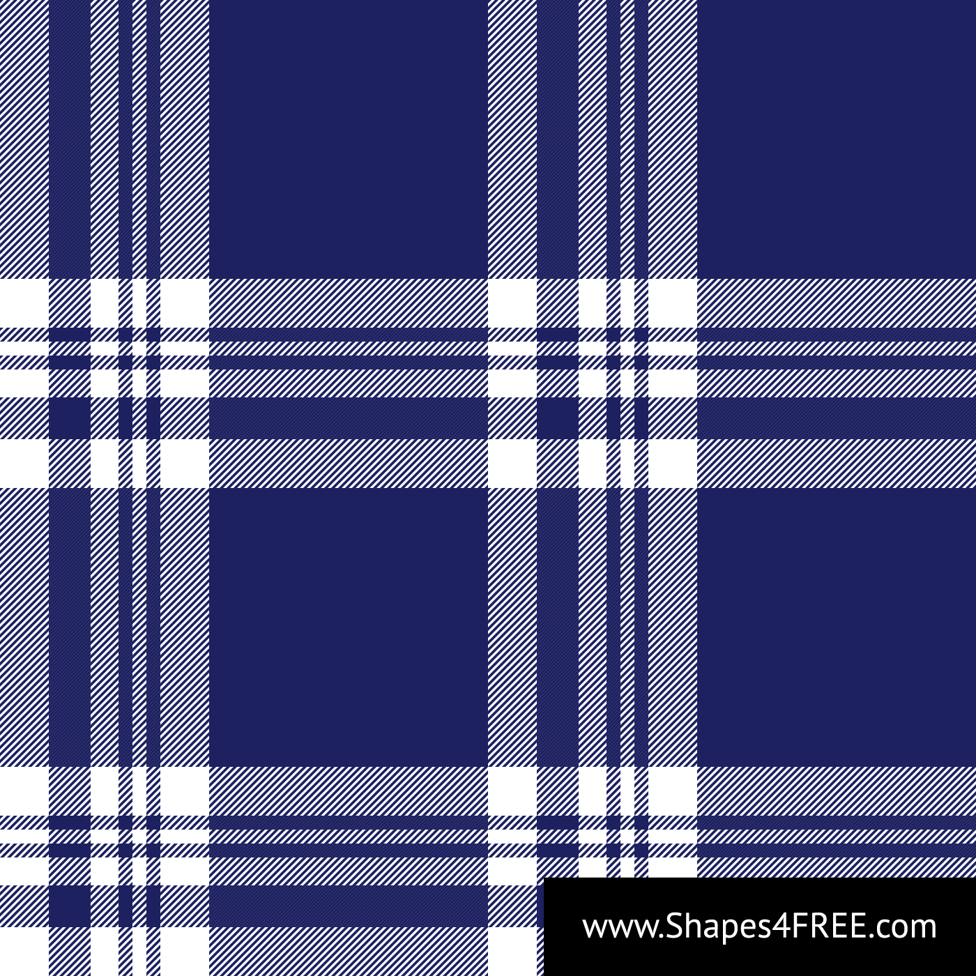 Navy Blue & White Check Plaid Vector Pattern (SVG)