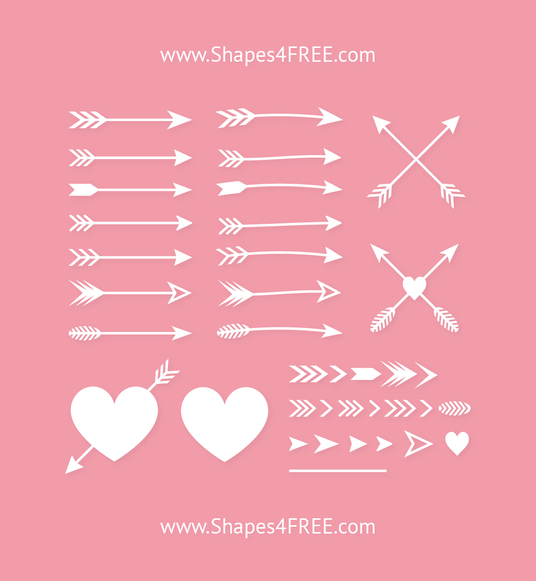 Archer Arrows Photoshop Shapes