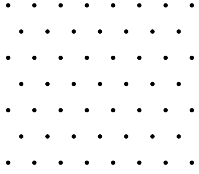 Black & White Polka Dot Vector Pattern