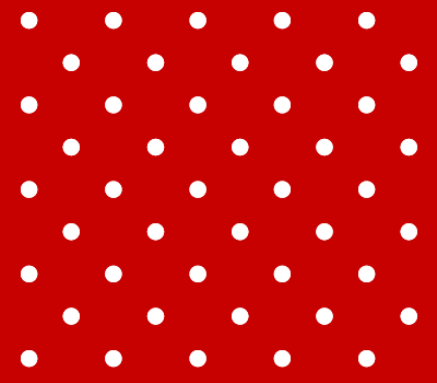 Red & White Polka Dot Vector Pattern