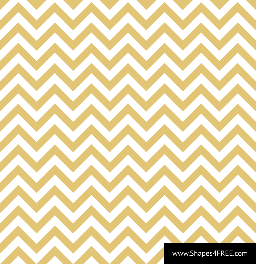Seamless Gold & White Zigzag Vector Pattern