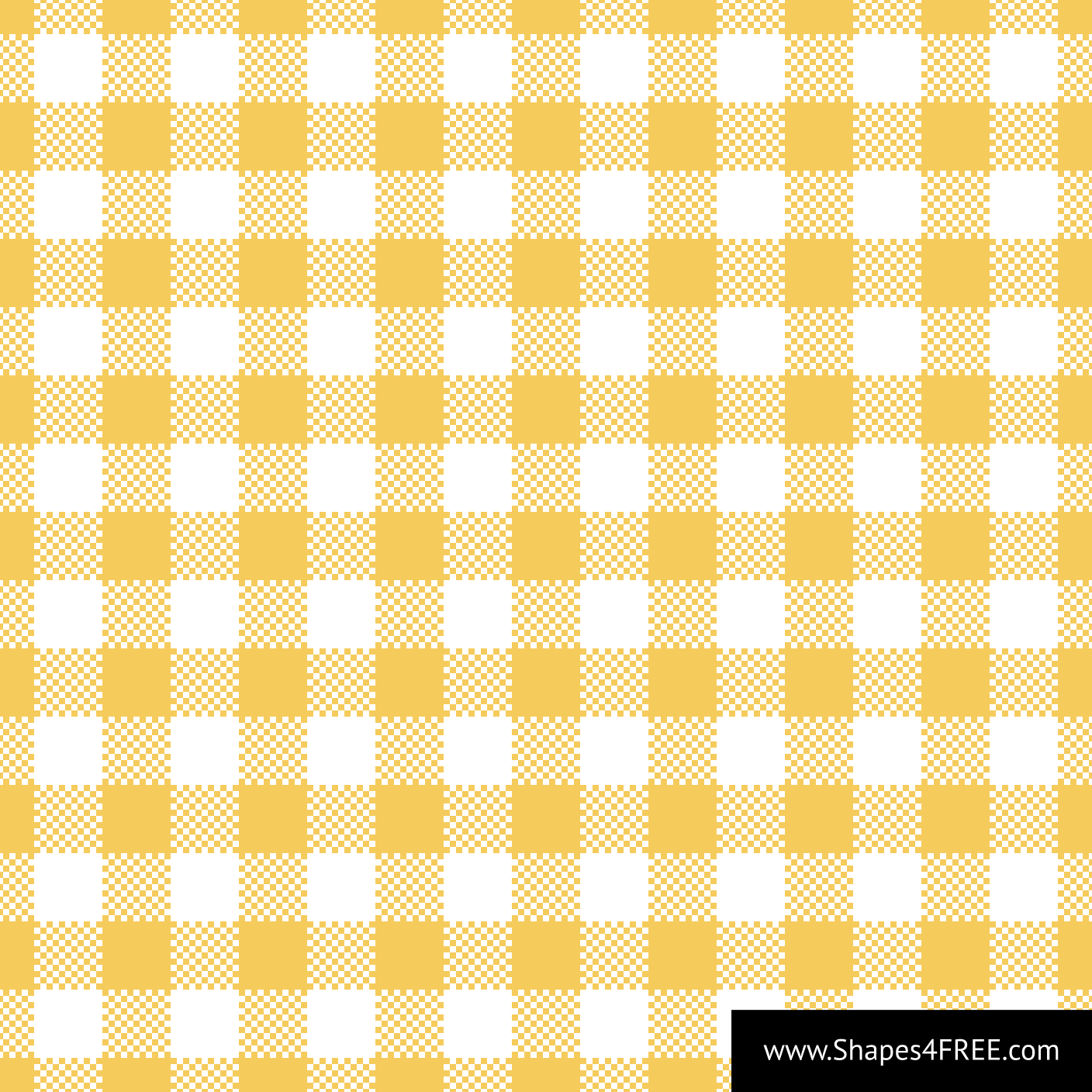 Yellow Gingham Pattern Vector (SVG)