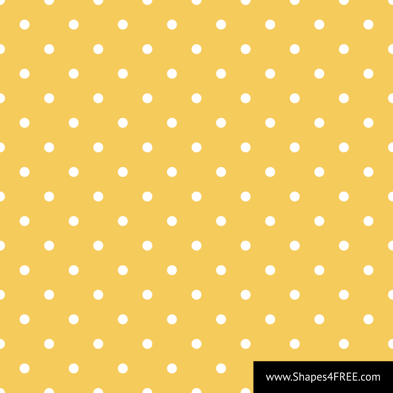 Yellow Polka Dot Vector Pattern