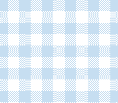 Baby Blue Gingham Check Vector Pattern