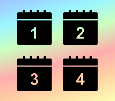Black Calendar Icons: Days 1 - 31