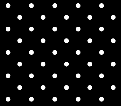 Classic Black Polka Dot Pattern Vector