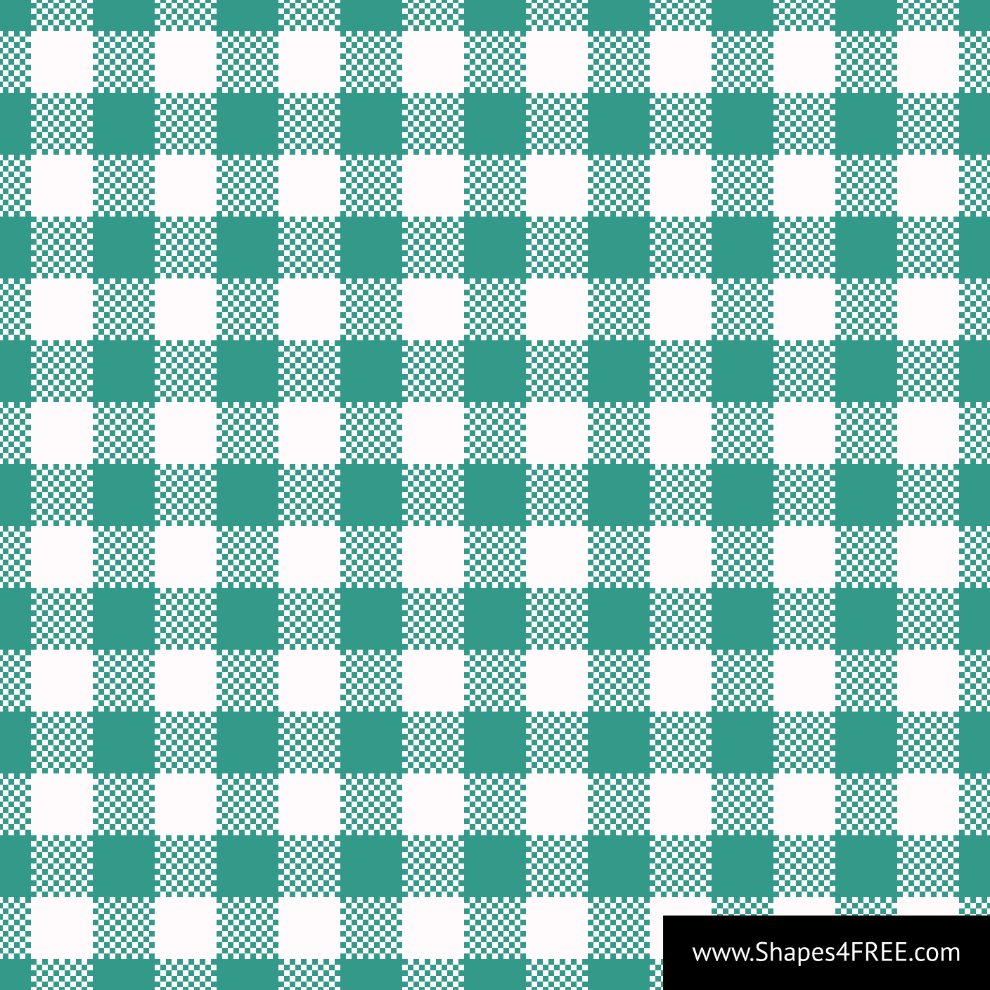 Emerald Green Gingham Vector Pattern