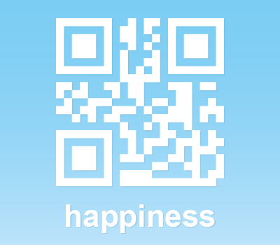 QR Code Icon: Happiness (Photoshop & Vector Shape)