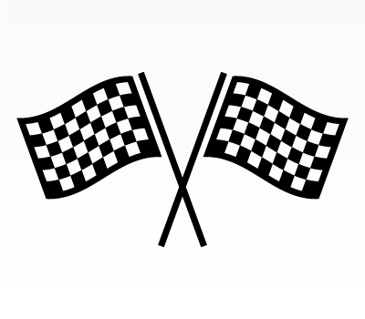 Racing Flags Icon (Photoshop & Vector Shape)