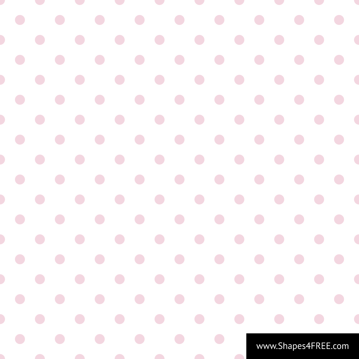 Seamless Baby Pink Polka Dot Vector Background