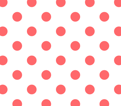 Seamless Coral & White Polka Dot Vector Background