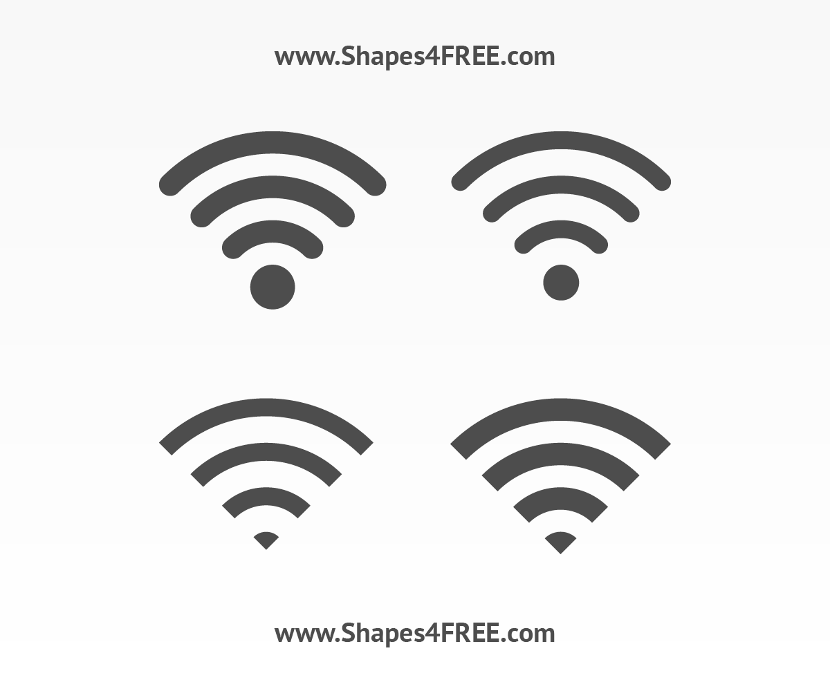Wifi Icon Photoshop & Vector Shapes