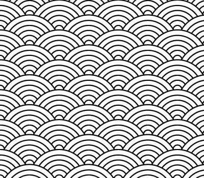 Japanese Seigaiha Wave Pattern Vector (SVG)