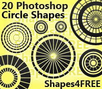 20 Photoshop Shapes – Circles (CSH)