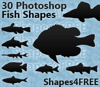 30 Photoshop Fish Shapes – Natural Fish