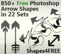 850+ Photoshop Arrow Shapes – Free CSH Files