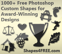 1000+ Free Photoshop Custom Shapes for Award-Winning Designs