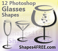 12 Free Photoshop Glass Shapes