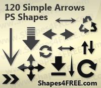 120 Arrows Photoshop Shapes