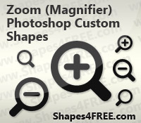 Zoom (Magnifier) Photoshop & Vector Shapes (CSH, SVG)