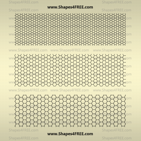22 Hexagon Photoshop Patterns (PAT)