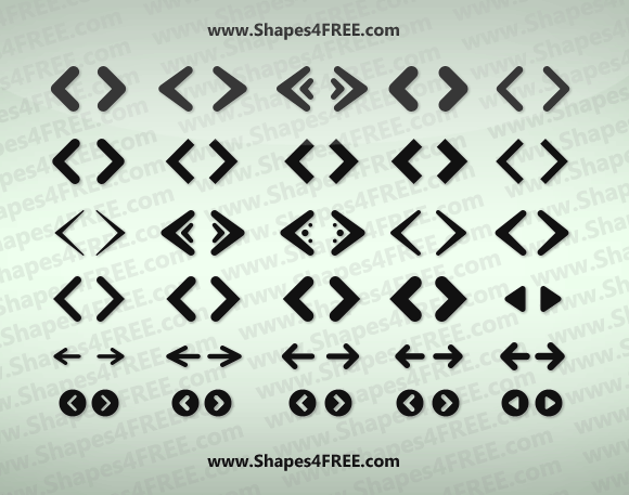 70+ Web Arrows Icons