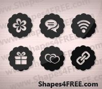 Free Badge Custom Shapes | Photoshop Custom Shapes