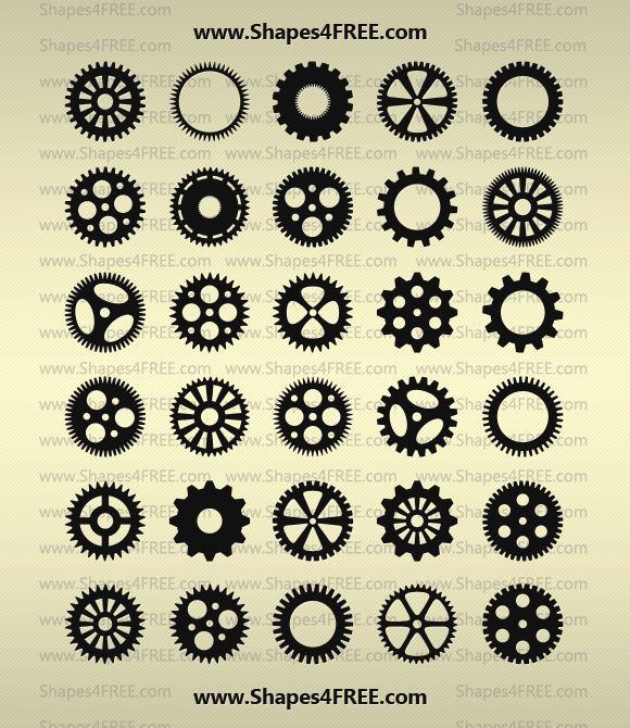 Photoshop Gears Shapes