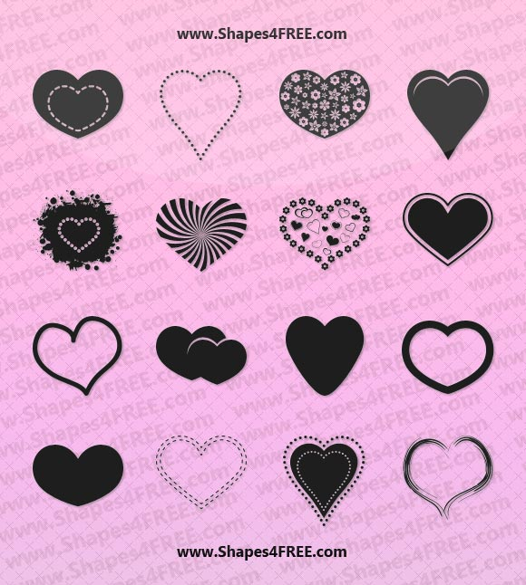 Photoshop Heart Shapes