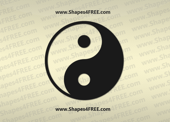 Yin Yang Photoshop & Vector Shape (CSH)