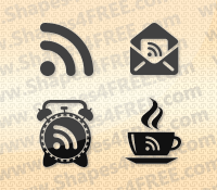 18 RSS Feed Photoshop & Vector Shapes (CSH)