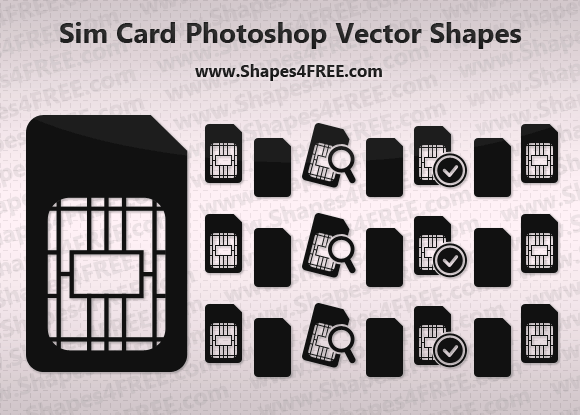 Sim Card Icon Photoshop & Vector Shapes (CSH)