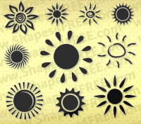 50 Photoshop Sun Shapes