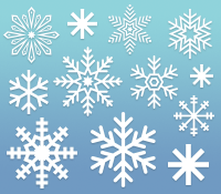 20 Snowflakes Photoshop Custom Shapes
