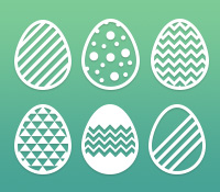 16 Easter Eggs Photoshop Custom Shapes