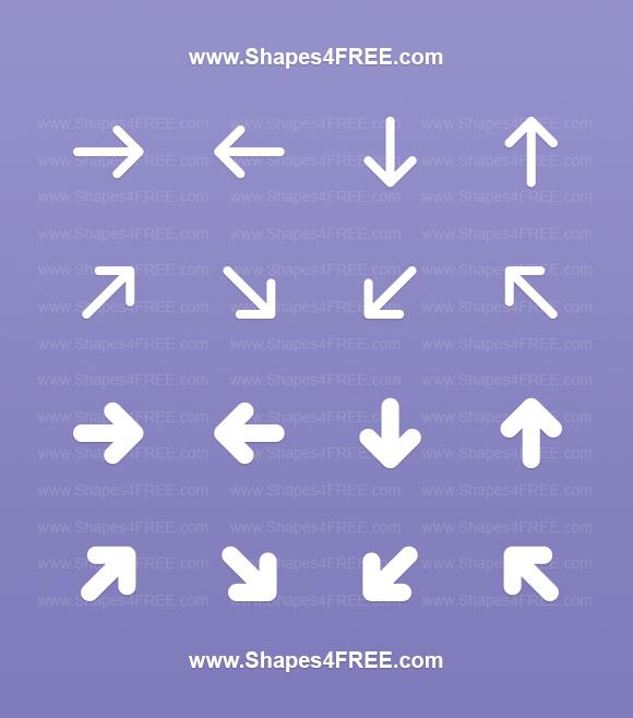320+ Photoshop Arrow Shapes – Free CSH Files | Photoshop