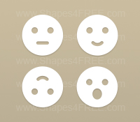 Smileys Photoshop Shapes (Volume 1)