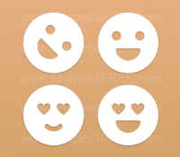 Smileys Photoshop Shapes (Volume 3)