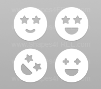Smileys Photoshop Shapes (Volume 4)